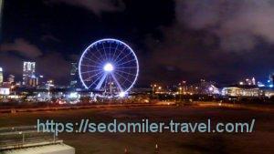 香港の夜景with観覧車