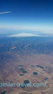日本~ロス飛行機からの写真