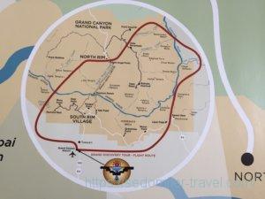 Bright Angel Lodge(ブライト エンジェル ロッジ)にあったグランドキャニオンの地図