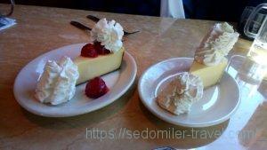 名物デザートのチーズケーキ